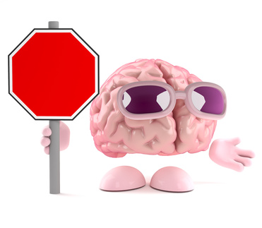 Brain has a blank road sign